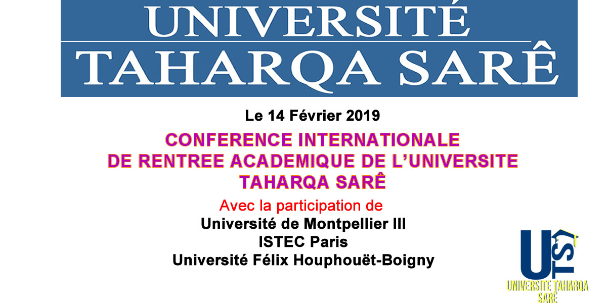 COLLOQUE INTERNATIONAL INAUGURAL