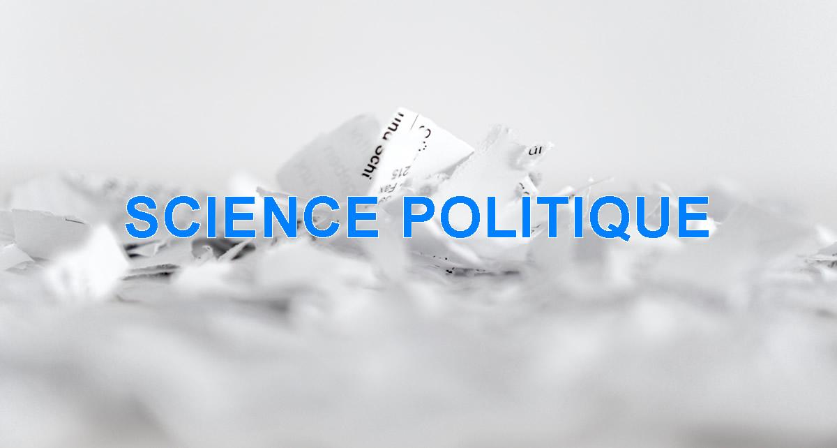 SCIENCES POLITIQUE