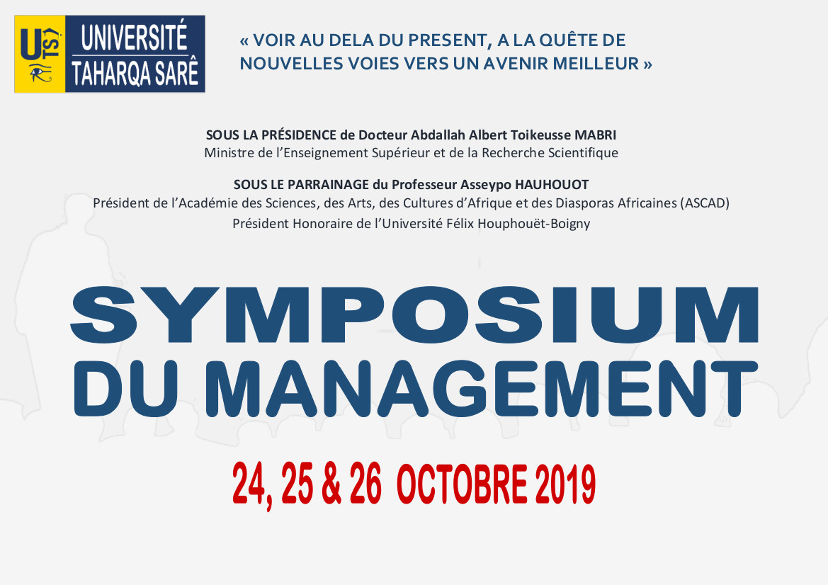 SYMPOSIUM DU MANAGEMENT